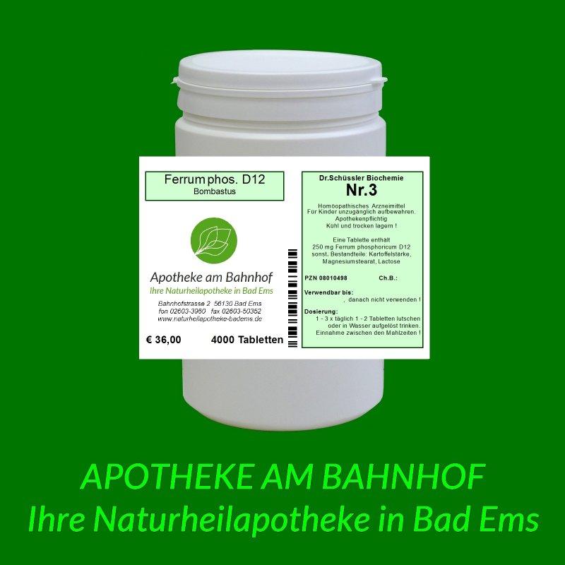Biochemie Nr3 Ferrum Phosphoricum D12 4000 Tabletten 3600
