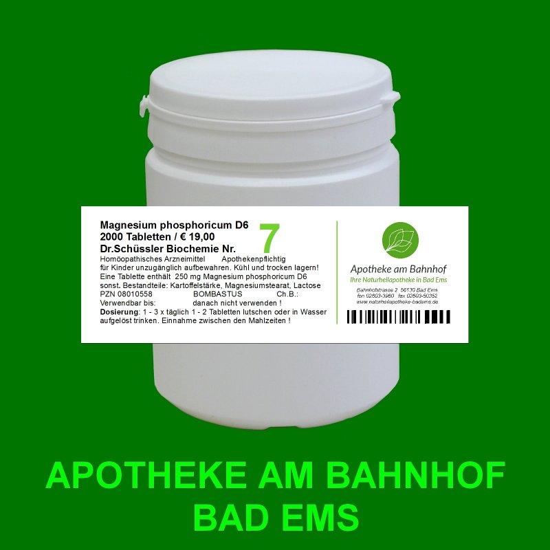 Biochemie Nr7 Magnesium Phosphoricum D6 2000 Tabletten 1900