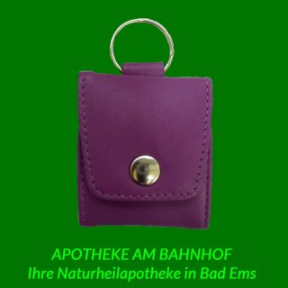 Homeopathic purple leather pocket case for 5
