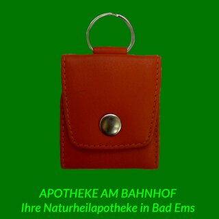 Homeopathic red leather pocket case for 5